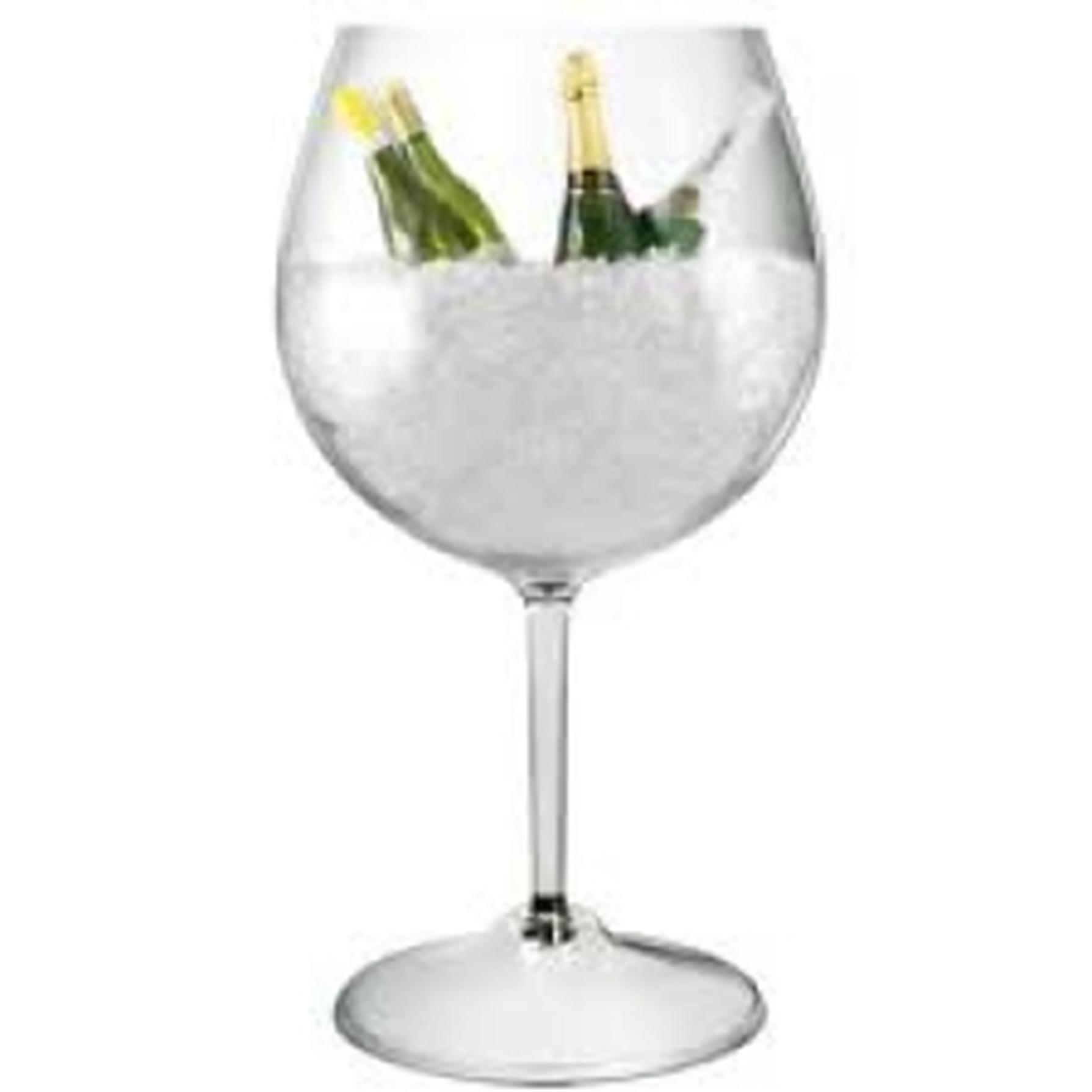 Giant Wine Glass Ice Tub Acrylic