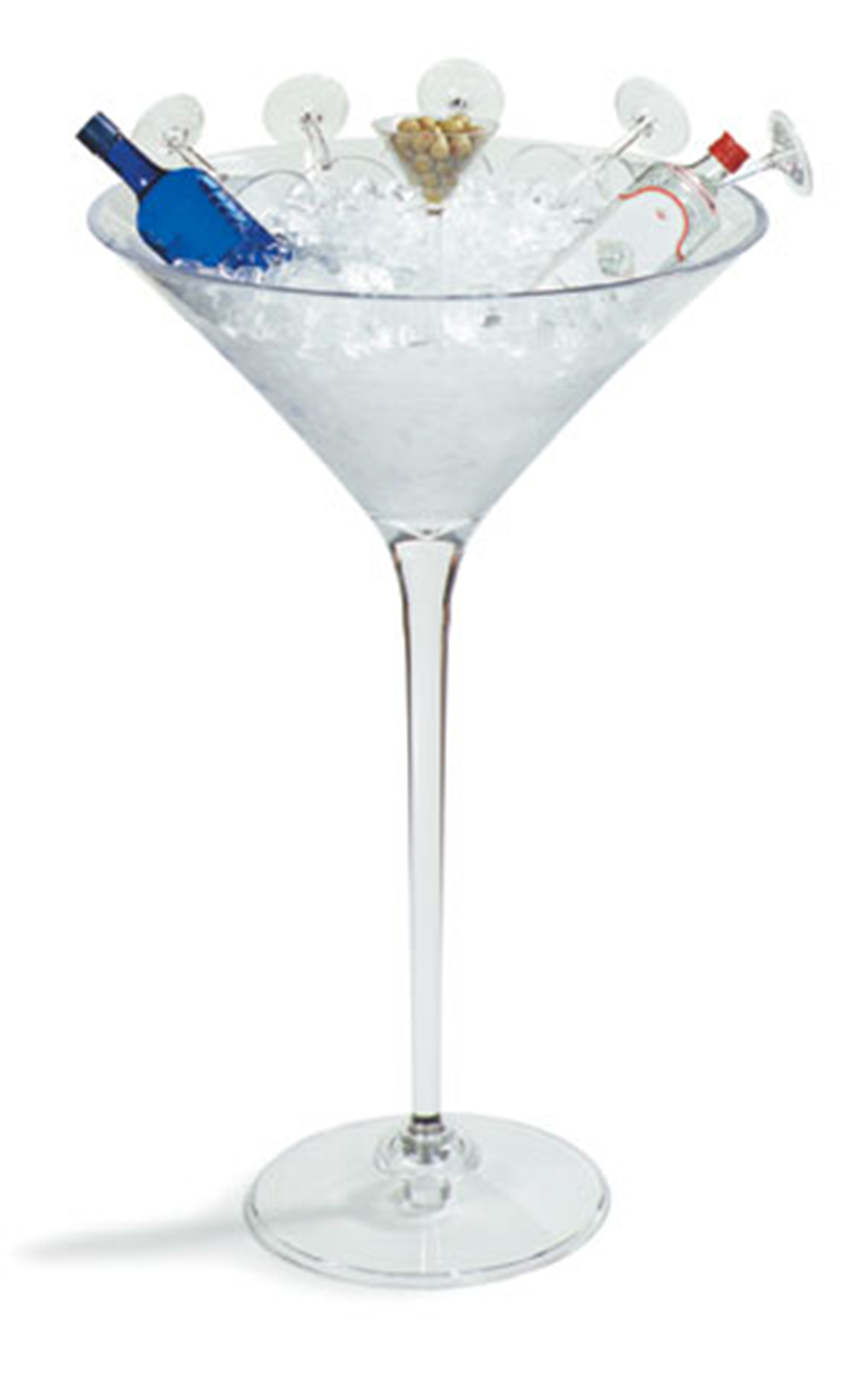 Giant Martini Glass Ice Tub Acrylic