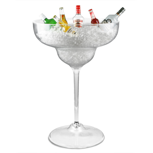 Ice Buckets Amp Stands Giant Margarita Glass Ice Tub